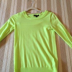 J. Crew Neon Green Sweater